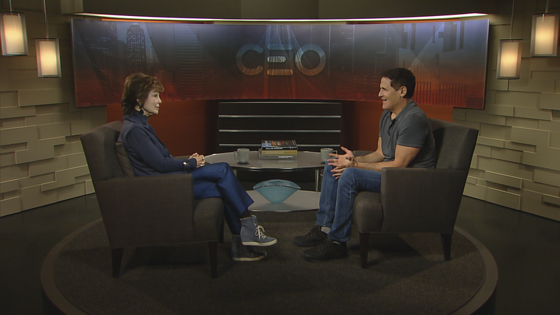 CEO host Lee Cullum and Dallas Mavericks owner Mark Cuban sat down Thursday for a conversation that will air on KERA TV in early April.