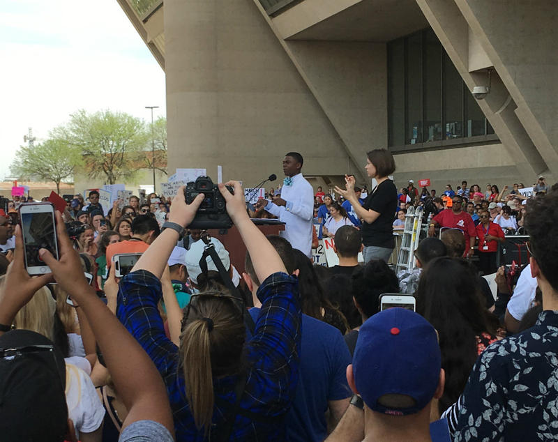 Thousands of people gathered in downtown Dallas Saturday for the 'March For Our Lives' rally.