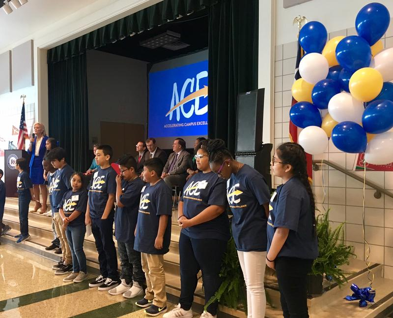 Richardson school district officials were at Carolyn Bukhair Elementary School on Monday to announce a new initiative called Accelerating Campus Excellence, or ACE. The district hopes to fix four of its underperforming schools under this program.