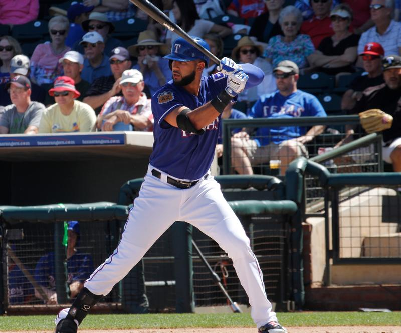 Nomar Mazara, right fielder for the Texas Rangers.