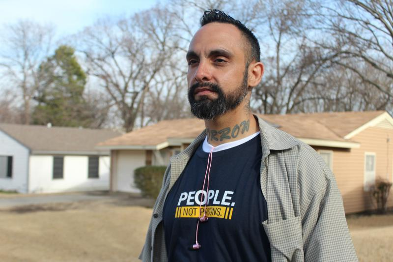 William Roundtree, a canvasser for the ACLU of Texas, was recently released from prison. Now, he's using his story to talk to people about why the district attorney's race in Dallas County matters.