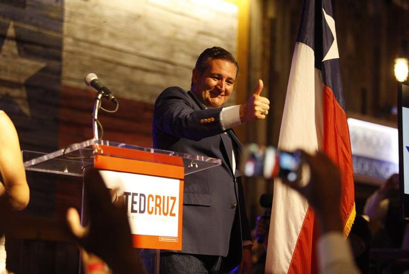 U.S. Sen. Ted Cruz speaks at the kickoff of his 2018 re-election campaign in Stafford on Monday, April 2, 2018.