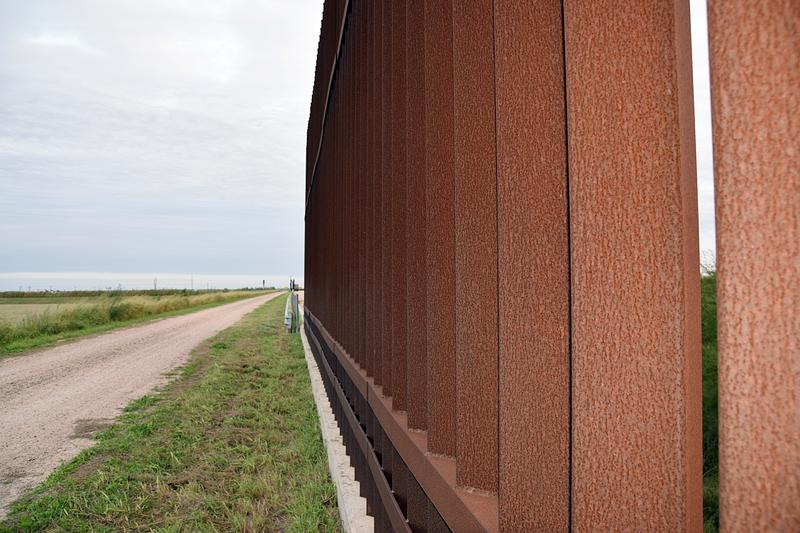 A section of the existing U.S.-Mexico border fence at Donna, Texas and Rio Bravo, Mexico.