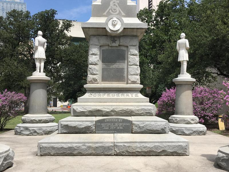 The Confederate War Memorial in Pioneer Park Cemetery in downtown Dallas.
