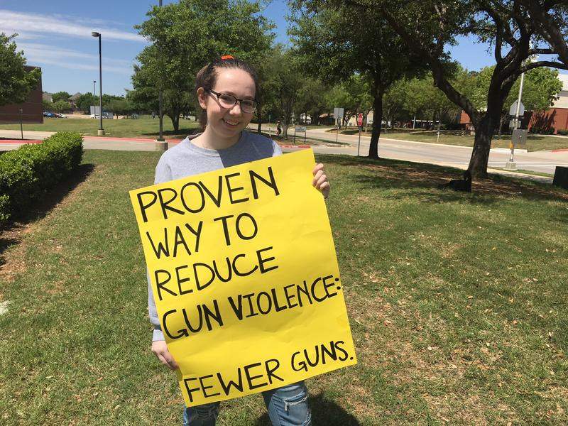 Nicole Cooper, 18, celebrated her birthday Thursday by getting friends together to make signs for Friday's event.