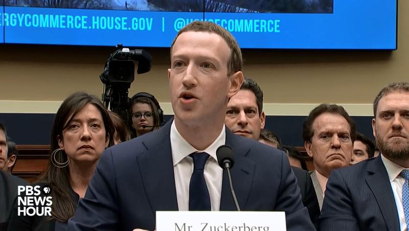 Facebook CEO Mark Zuckerberg testifies before the House Energy and Commerce Committee on Wednesday.