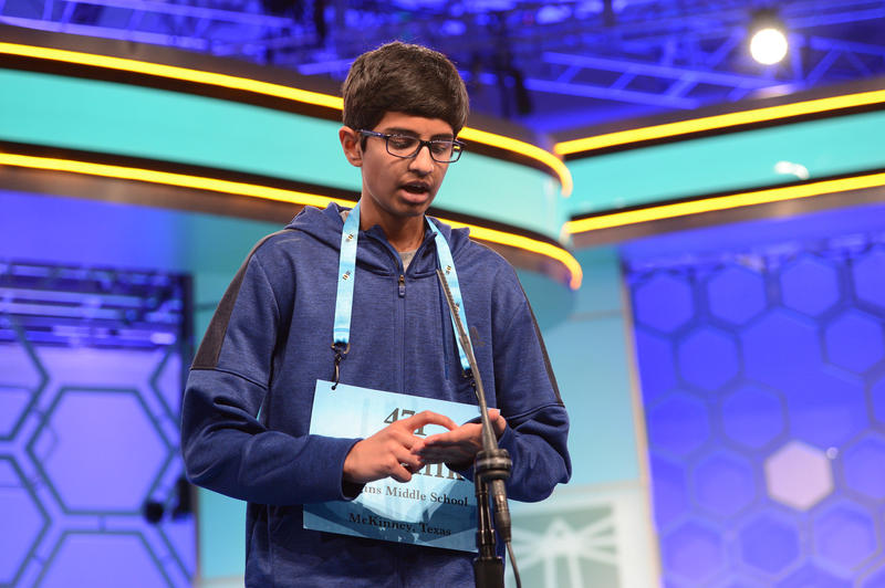 Karthik Nemmani, 14, of McKinney won the 2018 Scripps National Spelling Bee Thursday night.
