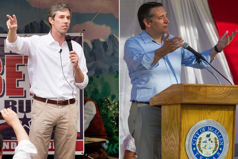 U.S. Rep. Beto O'Rourke, D-El Paso (left), and U.S. Sen. Ted Cruz.