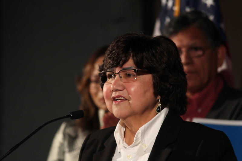 Lupe Valdez, the former Dallas County sheriff, won 45 percent of the vote in the March primary election. Now, she's facing off with businessman Andrew White of Houston in Tuesday's runoff.