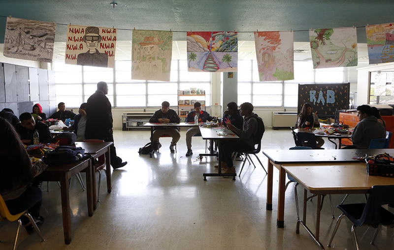 The art class room at L.G. Pinkston High School in Dallas on April 4, 2018.