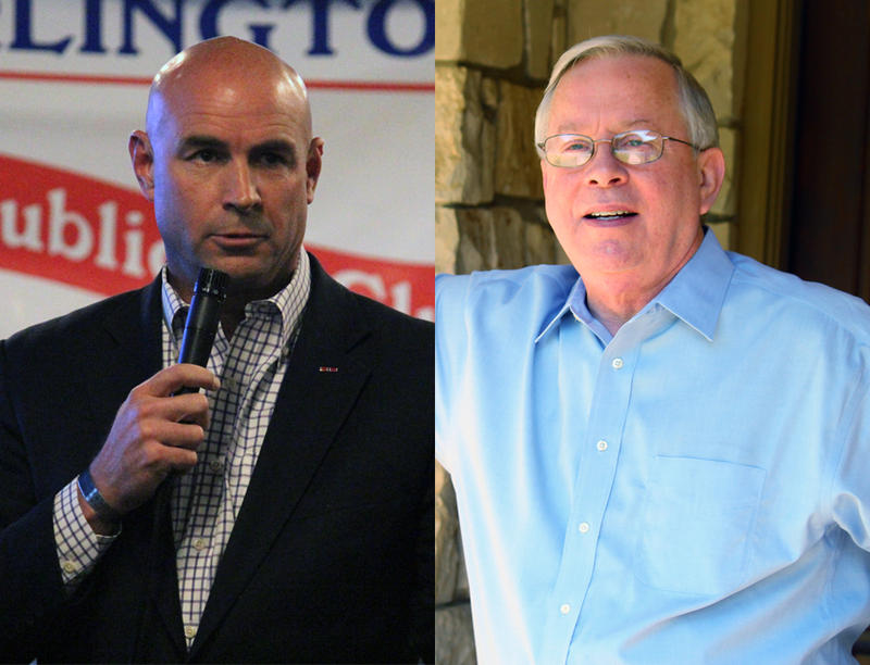 Jake Ellzey (left) and Ron Wright (right) are facing off in the May 22 runoff for the Republican nomination to replace retiring Congressman Joe Barton.