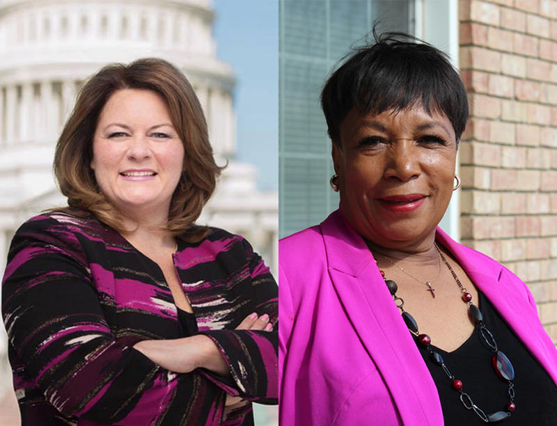 Democrats Jana Lynne Sanchez (left) and Ruby Faye Woolridge (right) are competing for Republican Joe Barton's congressional seat, which is open for the first time since the '80s.