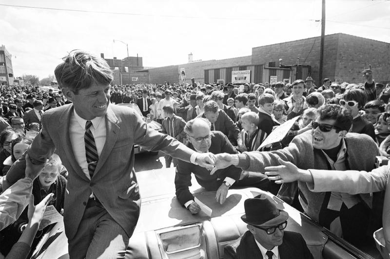 Robert F. Kennedy drew large crowds during his brief presidential campaign 50 years ago. The young U.S. Senator was assassinated on June 6, 1968.