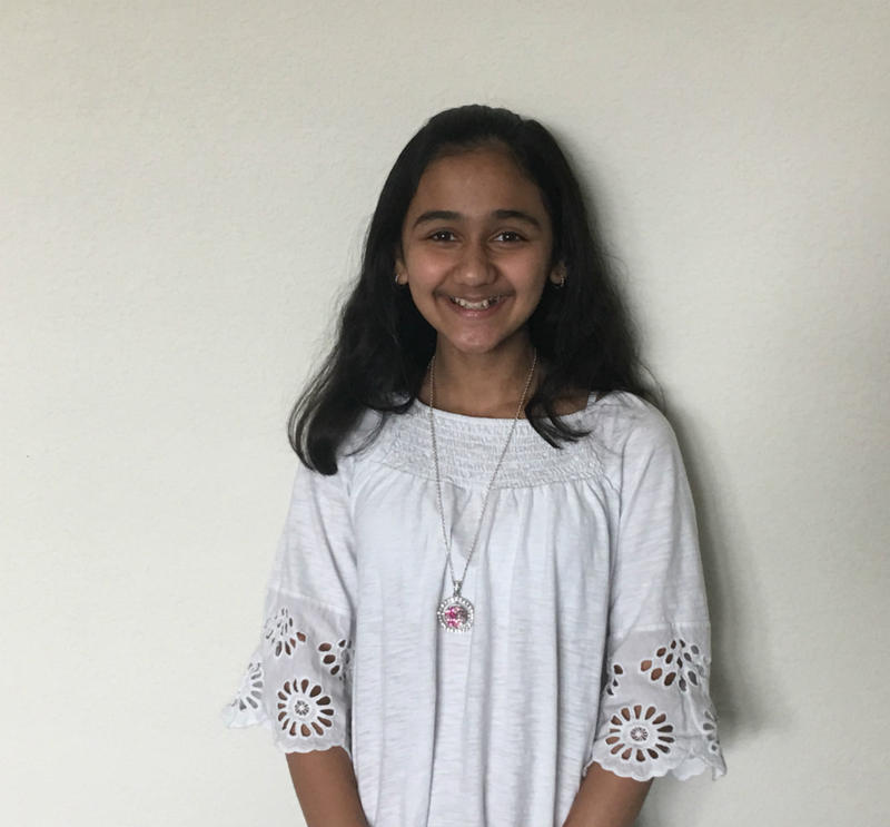 Naysa Modi, 12, at home in Frisco, Texas. She came in second place in this year's Scripps National Spelling Bee and plans to compete again next year.