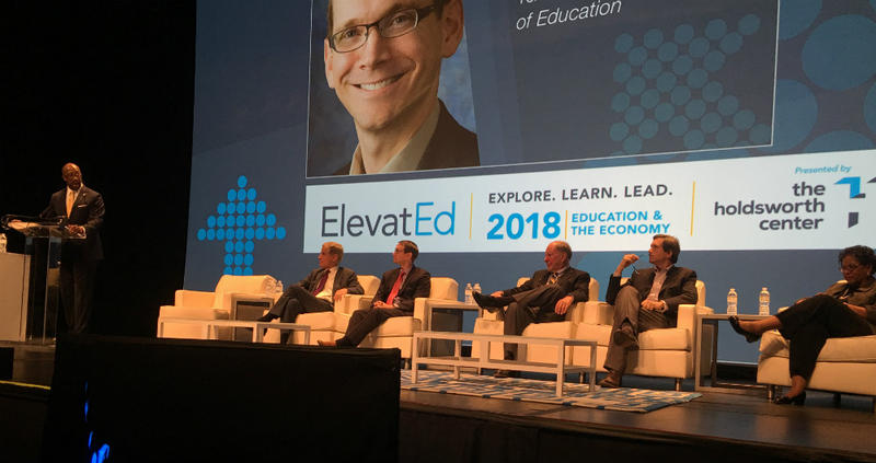 Panelists spoke about education and the economy on Monday at SMU as part of the ElevatEd conference.