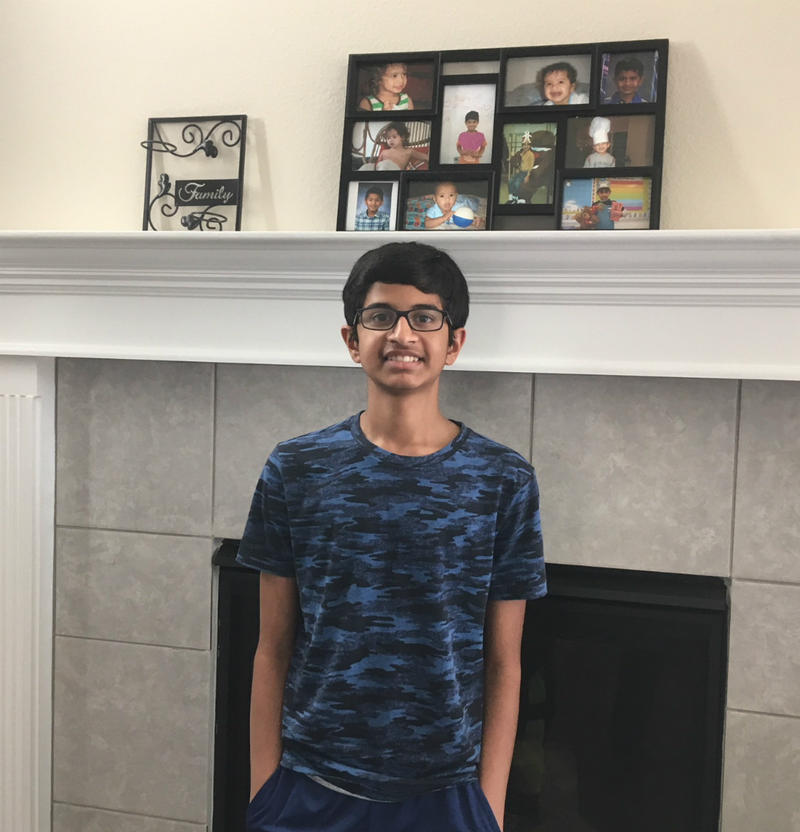 Karthik Nemmani at home in McKinney, Texas.