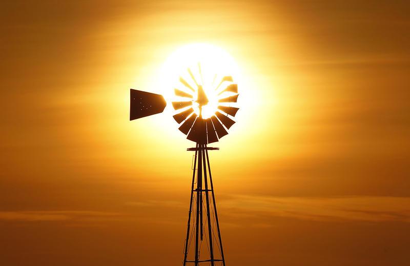 Windmill in San Angelo, Texas.