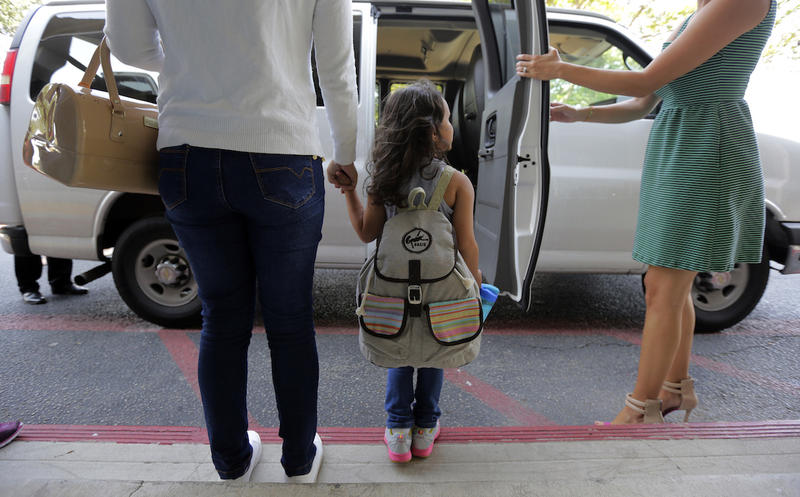 Since their separation in late May, Natalia Oliveira da Silva, left, had been taken to various facilities across Texas and her daughter, Sara, 5,  was at a shelter for immigrant minors in Chicago.
