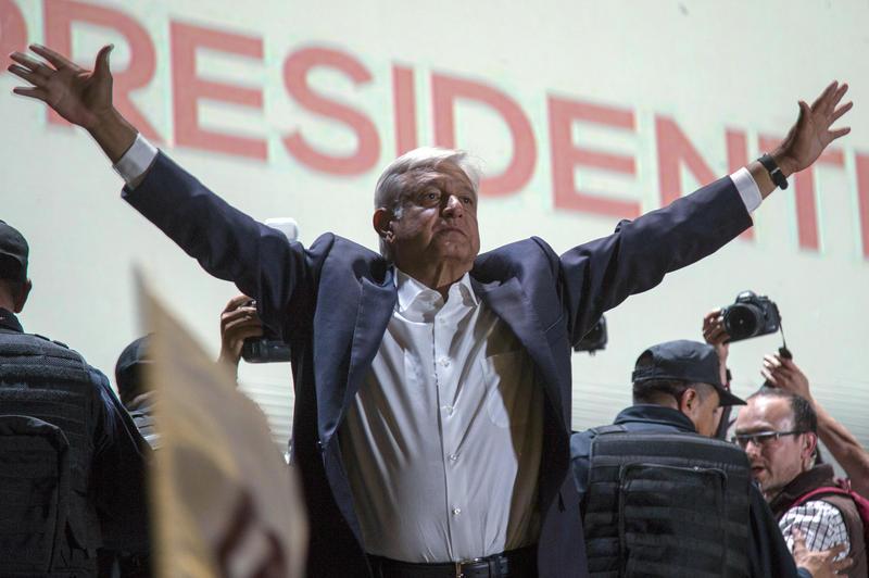 Mexico's President-elect Andres Manuel Lopez Obrador won by a landslide.