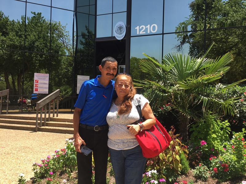 Maria Candelaria Gonzalez and Pedro Ibañez stopped by the Mexican Consulate in Dallas, Texas, on Monday. They say they're hopeful about the changes Mexico's newly elected president has promised.