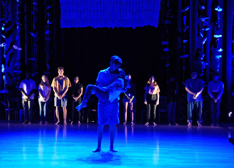 """Josh Bowman and Maren Bennett perform in Cry Havoc Theater's """"Babel."""""""