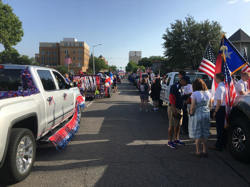 Getting ready for Denton's annual Yankee Doodle Parade in Denton.