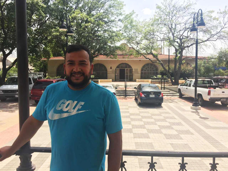 Dallas Parks board member Jesse Moreno stands in the gazebo in the plaza of Pike Park, once the centerpiece of Dallas' Little Mexico.