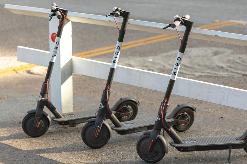 Bird debuted some its dockless, electric scooters in Dallas last month.