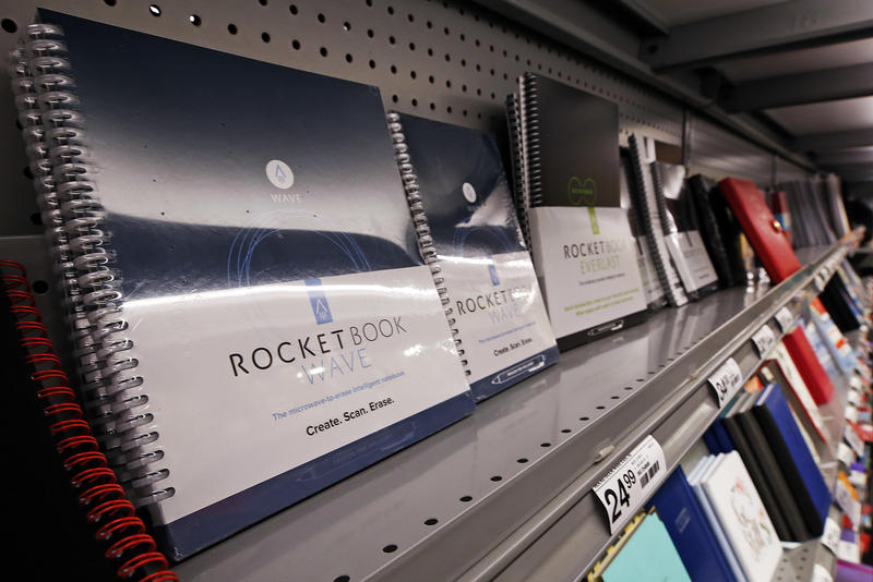 A display of back to school loose leaf binders in a Staples in Pittsburgh, July 18, 2018.