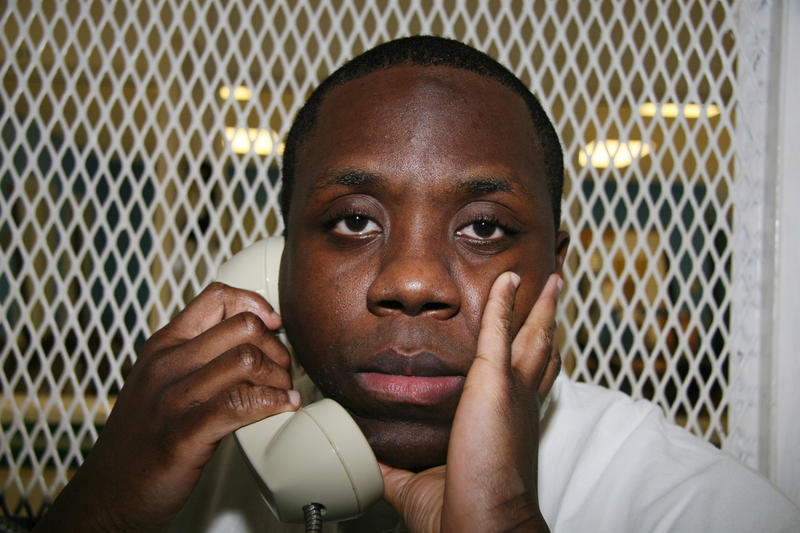 Condemned Texas inmate Raphael Holiday is photographed Oct. 28, 2015, during an interview outside death row at the Texas Department of Criminal Justice Polunsky Unit near Livingston, Texas.
