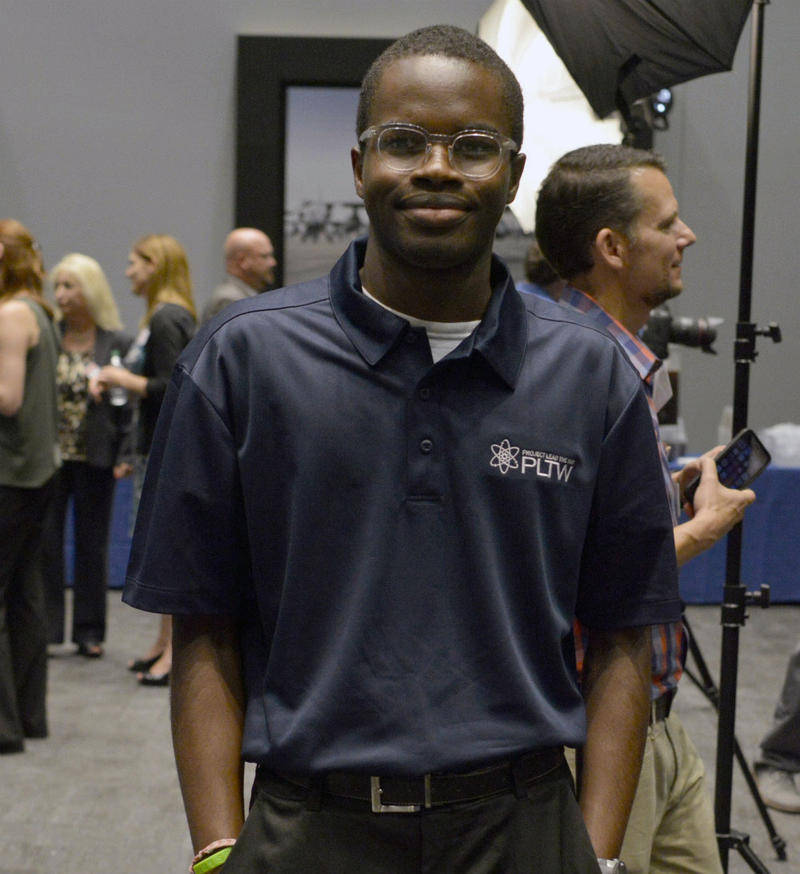 Ozioma Mgbahurike will be a senior at Arlington High School and is one of 47 new interns in the expanded Lockheed Martin internship program. What began with Arlington's school district now includes four North Texas districts.