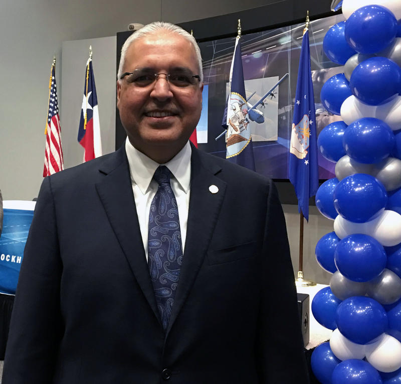 Marcelo Cavazos, Arlington ISD superintendent, helped pitch the internship program Lockheed Martin is now pioneering. The students just signed to Lockheed Martin all came from Arlington high schools.