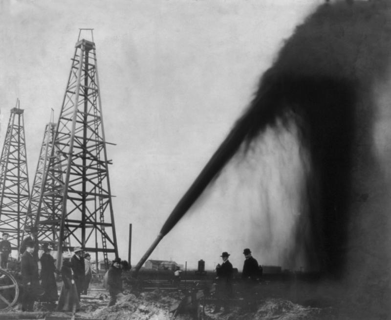 Oil well in Port Arthur, Texas, 1901. UNT professor Andrew Torget says he's going to talk about Texas' geological evolution and how it set the stage for other historical developments in the U.S. and Mexico.