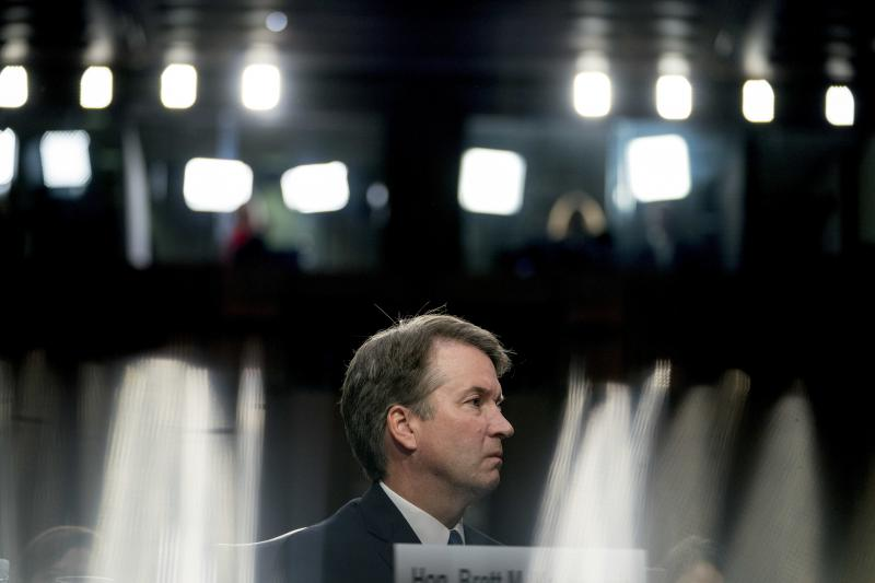 President Donald Trump's Supreme Court nominee, Brett Kavanaugh, a federal appeals court judge, appears before the Senate Judiciary Committee on Capitol Hill in Washington, Sept. 4, 2018.