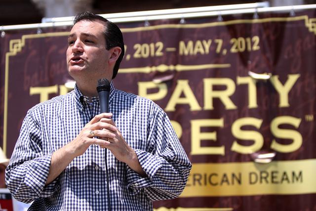 U.S. Sen. Ted Cruz, R-Texas, speaking to Tea Party Express supporters at a May 2012 rally in Austin.