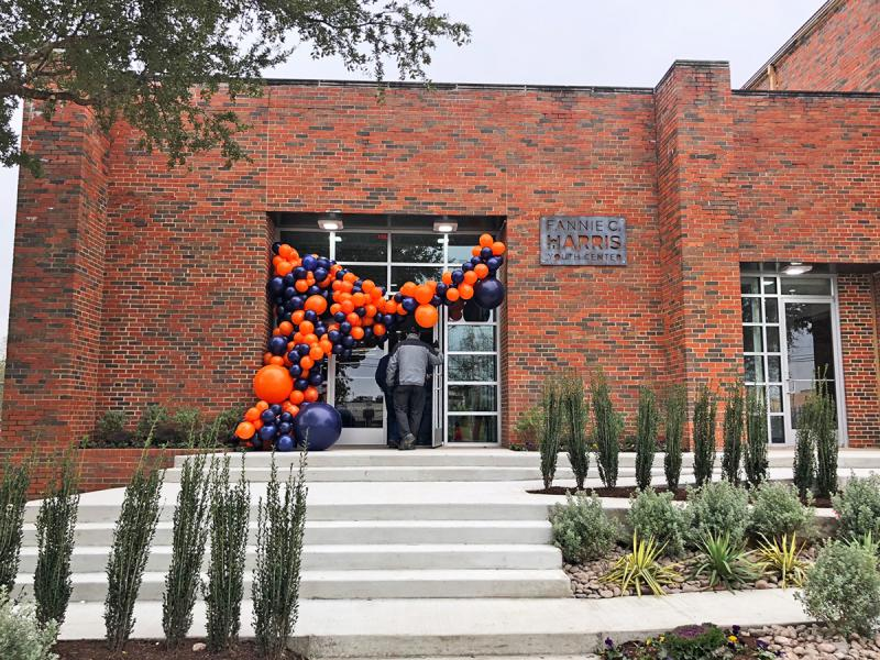 The front of the new Fannie C. Harris Youth Center, near Fair Park in Dallas. Dallas ISD and several non-profits held a ceremony t