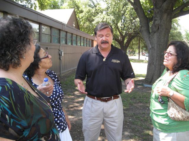 Garcia talking with voters from Congressional District 33