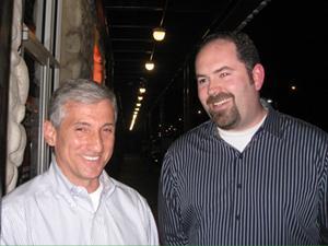 Dan Micciche, DISD Trustee elect, District 3, with Mark Melton, with Educate Dallas PAC