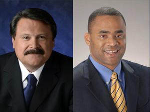 Congressional District 33 hopefuls Domingo Garcia and Marc Veasey