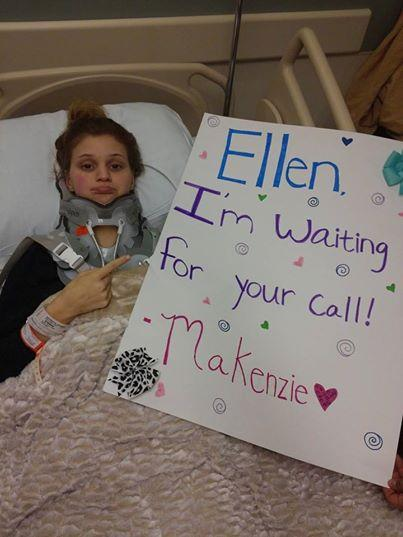 "Makenzie is a big fan of the ""Ellen"" show."