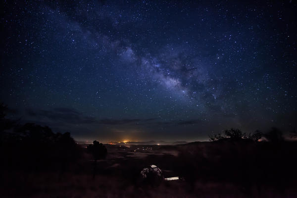 Ooh and aah at the stars in the night sky in west Texas.