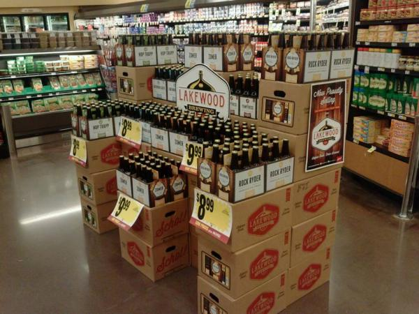 You can buy local craft beers, including beverages from Lakewood Brewing, in stores across North Texas.