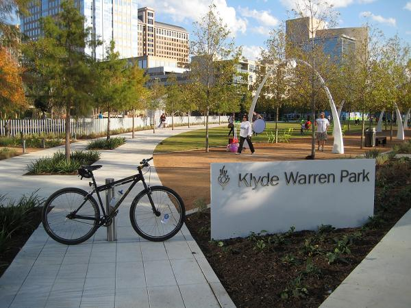 Klyde Warren Park offers many free activities -- but you have to pay for food from the food trucks.