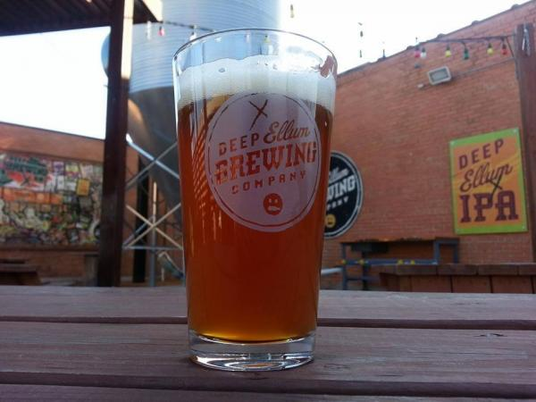 A beautiful brew: Deep Ellum Brewing has a beer garden.