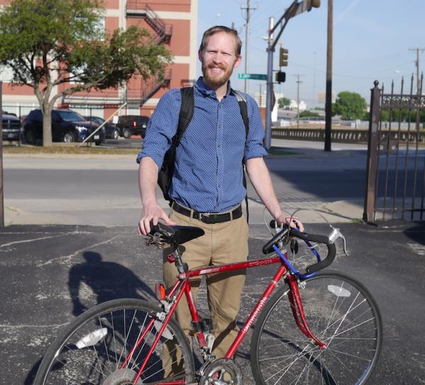 "When you bike, ""you kind of just feel more alive,"" Cameron Jones says."