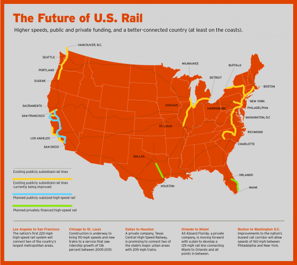 Here's a look at train projects that are in the works across the country.