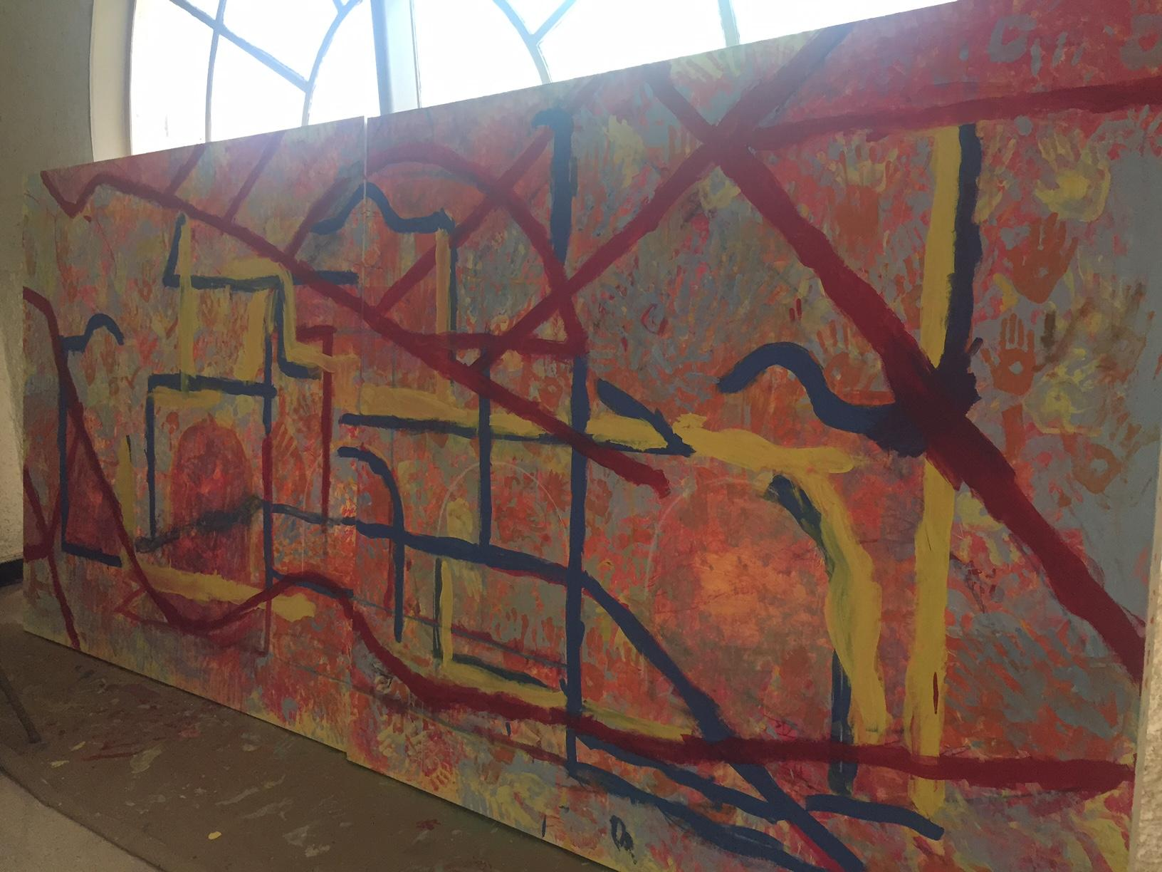 Inspirational SMU art student Nicolas Gonzalez has been working on this mural of Little Mexico with help from students in the Pike Park summer camp