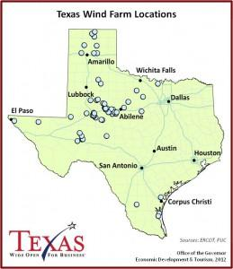 Map Of Major Cities In Texas.Texas A Wind Energy All Star State Kera News