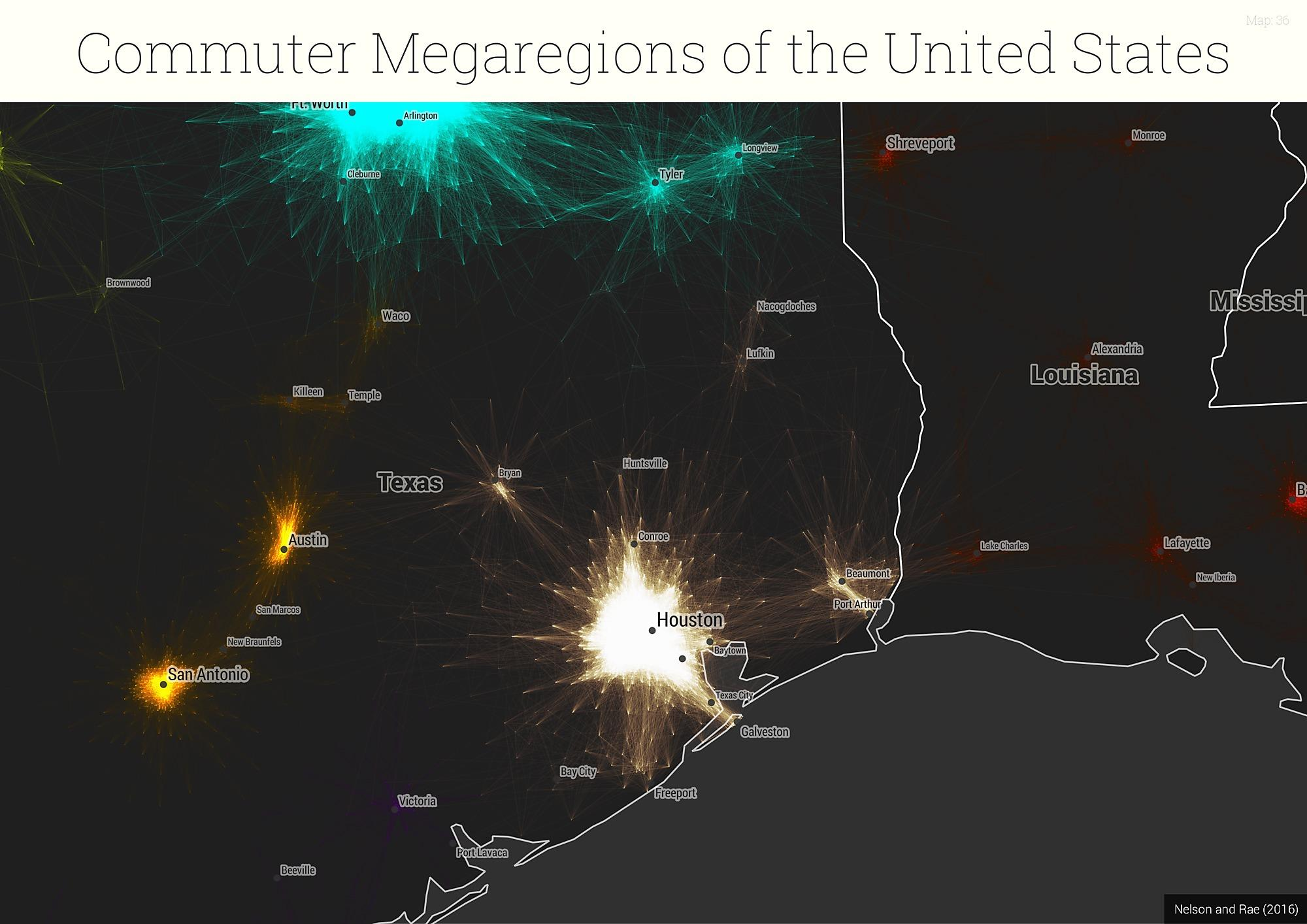 How Do You Define A Megaregion Like Dallas By Analyzing - The megaregion map of the us dartmouth