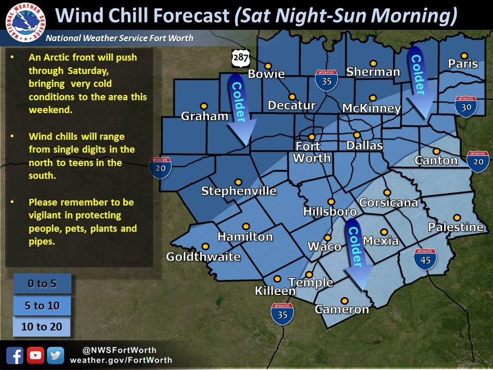 Saturday In North Texas Degrees By Day And Degrees And - Us weather service map